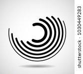 abstract technology spiral... | Shutterstock .eps vector #1030449283