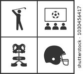 vector illustration of sport... | Shutterstock .eps vector #1030456417