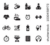 health and fitness icons | Shutterstock .eps vector #1030458973