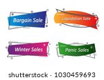flat linear promotion ribbon... | Shutterstock .eps vector #1030459693