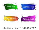 flat linear promotion ribbon... | Shutterstock .eps vector #1030459717