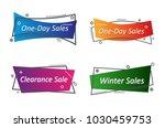 flat linear promotion ribbon... | Shutterstock .eps vector #1030459753