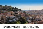 panoramic view of lisbon ... | Shutterstock . vector #1030469287
