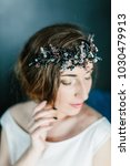 young beautiful bride with a...   Shutterstock . vector #1030479913