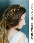 young beautiful bride with a...   Shutterstock . vector #1030479973