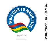 welcome to mauritius flag... | Shutterstock .eps vector #1030485007