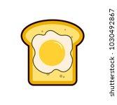 breakfast egg and toast. light...   Shutterstock .eps vector #1030492867