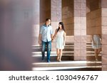 young couple admire each other...   Shutterstock . vector #1030496767