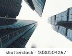 skyscrapers in the financial... | Shutterstock . vector #1030504267