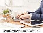 unrecognizable businessman... | Shutterstock . vector #1030504273