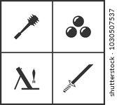 vector illustration of weapon... | Shutterstock .eps vector #1030507537