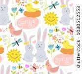 spring vector natural floral... | Shutterstock .eps vector #1030512553