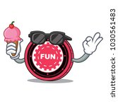 with ice cream funfair coin... | Shutterstock .eps vector #1030561483