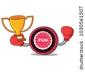 boxing winner funfair coin... | Shutterstock .eps vector #1030561507