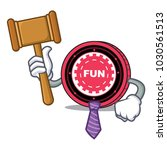 judge funfair coin mascot... | Shutterstock .eps vector #1030561513