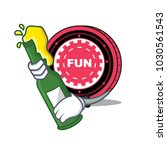 with beer funfair coin mascot... | Shutterstock .eps vector #1030561543