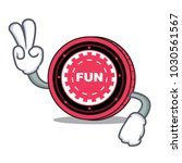 two finger funfair coin... | Shutterstock .eps vector #1030561567