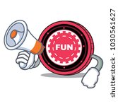 with megaphone funfair coin... | Shutterstock .eps vector #1030561627