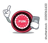 with phone funfair coin... | Shutterstock .eps vector #1030561633