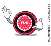 call me funfair coin mascot... | Shutterstock .eps vector #1030561663