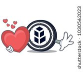 with heart bancor coin mascot... | Shutterstock .eps vector #1030562023