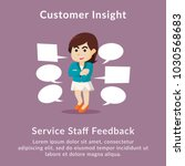 customer insight service staff... | Shutterstock .eps vector #1030568683