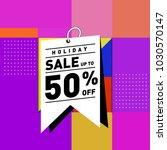 summer holiday sale memphis... | Shutterstock .eps vector #1030570147