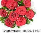 bouquet of fresh roses  flower... | Shutterstock . vector #1030571443