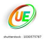 initial letter ue logotype...