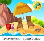 background scene with two... | Shutterstock .eps vector #1030576837