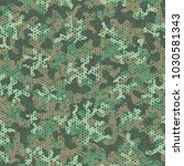 camouflage pattern. seamless.... | Shutterstock .eps vector #1030581343