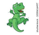 green dinosaurs climbing vector ... | Shutterstock .eps vector #1030616497