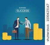 business deal success. business ... | Shutterstock .eps vector #1030625167