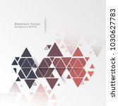 abstract geometric triangles... | Shutterstock .eps vector #1030627783