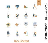 school and education icon set.... | Shutterstock .eps vector #1030639993
