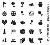 solid black vector icon set  ... | Shutterstock .eps vector #1030655017