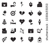 solid black vector icon set  ... | Shutterstock .eps vector #1030655053
