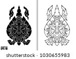 thai painting style vector... | Shutterstock .eps vector #1030655983