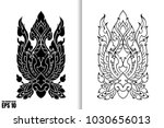 thai painting style vector... | Shutterstock .eps vector #1030656013