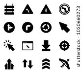solid vector icon set   sign... | Shutterstock .eps vector #1030660273