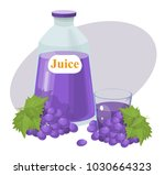 grape juice  vector illustration | Shutterstock .eps vector #1030664323