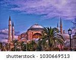 hagia sophia mosque in istanbul ...   Shutterstock . vector #1030669513