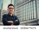 confident male business... | Shutterstock . vector #1030677673