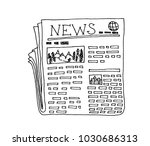 newspaper with text and images... | Shutterstock .eps vector #1030686313