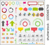 infographic elements  vector... | Shutterstock .eps vector #103068743