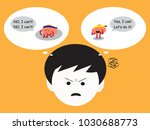 brain cartoon characters vector ... | Shutterstock .eps vector #1030688773