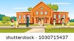muslim school vector... | Shutterstock .eps vector #1030715437