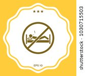 no smoking in bed   prohibition ... | Shutterstock .eps vector #1030715503