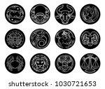 astrology horoscope zodiac star ... | Shutterstock .eps vector #1030721653