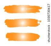 set of hand painted orange...   Shutterstock .eps vector #1030730617